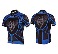 KOOPLUS® Cycling Jersey Men's Short Sleeve Bike Breathable / Quick Dry Jersey / Tops Polyester Spring / Summer Cycling/Bike