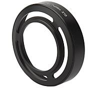 металлический вентилируемый капот линзы для Fuji x10 - черный