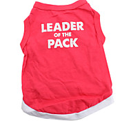 Leader of the Pack Cotton Shirt for Dogs (Red, Multiple Sizes Available)