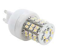 Foco LED tipo Maíz de Luz Blanca Tibia de 2800-3200K de 150lm SMD de 48x3528 de 3W G9 de 230V