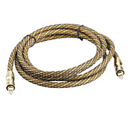 banhado a ouro de macho para macho cabo digital febre fio de fibra óptica toslink (2 metros)
