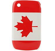 bandera de Canadá patrón de estuche protector para blackberry 8520 y 8530