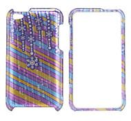 flocon de neige modèle dos du boîtier de protection et le cadre de pare-chocs pour iPod touch 4 (violet)