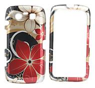 grande fiore modello completo di fondello del corpo e telaio paraurti per BlackBerry 9850/9860 (red)
