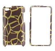 style de rayure de dos du boîtier de protection et le cadre de pare-chocs pour iPod touch 4 (marron)