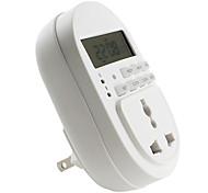 nos enchufe de 3 patillas de ahorro de energía eléctrica del temporizador (110v 10a)