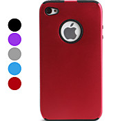 Silicone Gel Back Case and Aluminum Bumper Frame for iPhone 4 and 4S (Assorted Colors)