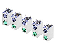 6-pin Mini Dual Computer Jack Connector (5 Pieces a pack)
