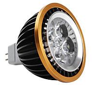 Foco Dirigido LED de Luz Blanca Natural de 6000-6500K de 360lm de Bordes Dorados de 4W GU 3.5  de 12V