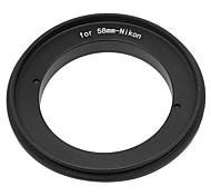 Anillo de retroceso de 58 mm para cámaras Nikon dslr