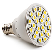 4W E14 Focos LED MR16 24 SMD 5050 150 lm Blanco Cálido AC 100-240 V
