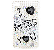 English Letters Style Diamond Case for iTouch 4