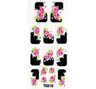 3d in rilievo fiori adesivo per unghie (3 pezzi)