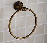"Towel Ring Antique Brass Wall Mounted 180 x 60 x 185mm (7.08 x 2.36 x 7.28"") Brass Antique"