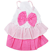 Bowtie Style Dress for Dogs (XS-XL, Pink)