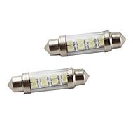 39mm 8*1210 SMD White LED Car Signal Lights (2-Pack, DC 12V)