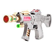 Super Flash Dynamoelectric Gun Toy (Silver)