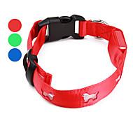 Dog Pattern Style Nylon LED Dog Collar (40-50cm/15.7-19.7inch, Assorted Colors)