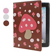 Mushroom Style Pattern PU Leather Case With Stand for iPad 2/3/4 (Assorted Colors)