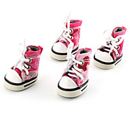 Dog Shoes & Boots Pink Spring/Fall PU LeatherDog Shoes