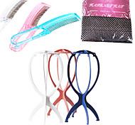 arc-en-couleur métier zig soins set 1 * chapeau de perruque liner 1 * 1 * peigne et peuplements perruque (couleur envoyés au hasard