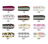 Kristall-Muster Stil 16 Tipps Nail Art Sticker
