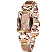 moda feminina estilo liga relógio pulseira de quartzo analógico (bronze)