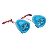 czmp3004-4 da motocicleta sistema de alarme de mp3 de áudio (azul)