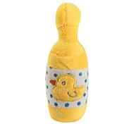 Baby Duck bottiglia di stile a forma di cigolio toy pet per i cani (15 x 5cm)