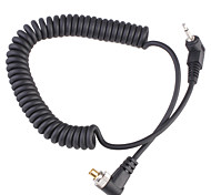 2,5 mm de cable de sexo masculino cable de sincronización con el tornillo de bloqueo de 1 m