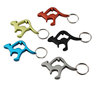 Kangaroo Shaped Bottle Opener Keychain (Random Color)