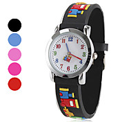 Children's Silicone Analog Quartz Wrist Watch (Multi-Colored) Cool Watches Unique Watches