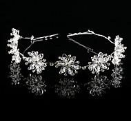 Handmade Flowers of Six leaves Wedding Bridal Headpiece
