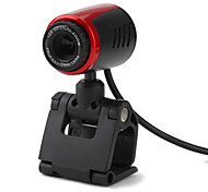 Webcam USB Plug-and-Play HD 0.3 Megapixel con Micrófono