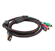 V1.3 HDMI to 3 RCA Video Component Cable (1.5M)