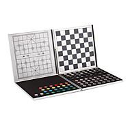 5-en-1 de aleación de aluminio de viajes magnético conjunto de juegos - plata caso