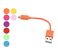 USB Sync and Charge Cable for Samsung Galaxy S3 I9300, I9100 & Others (Assorted Colors, 10cm Length)