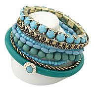 perles rafraîchissantes bracelet en alliage de style océan bracelet bohème multicouche bracelet