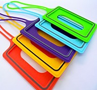 Silicone Sleeve Card Travel Luggage Tag