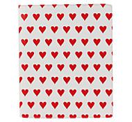 Etui en cuir avec un motif coeur pour iPad2 et le nouvel iPad