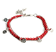Lureme®Bright Color Skull Pendant Bracelet
