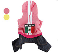 Comes From Mexico Dog Quilted Warm Coat with Pants (XS-XL)