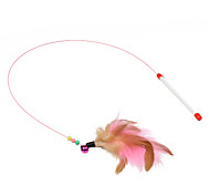 Cat Toy Pet Toys Teaser Feather Toy Stick Plastic