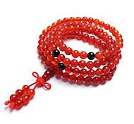 Brazil Natural 3A Red Agate 108 Prayer Beads Bracelet