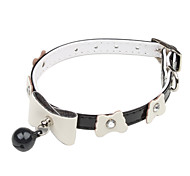 Cat / Dog Collars Black Genuine Leather