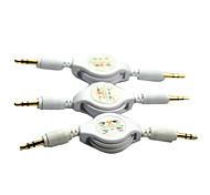 bañado en oro 3,5 a 3,5 Cable de interfaz de audio retráctil (0,8 m)