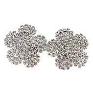 Rhinestone Forma grande flor totalmente Jeweled brinco