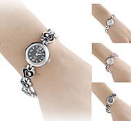 Bracelet Watch Quartz Imitation Diamond Band Heart shape Elegant Brand