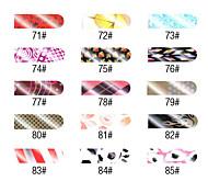 16 PCS Nail Art Chrysanthemum Full Cover Stickers Manicure