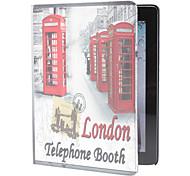 cabine de telefone padrão de capa de couro pu para ipad 2/3/4